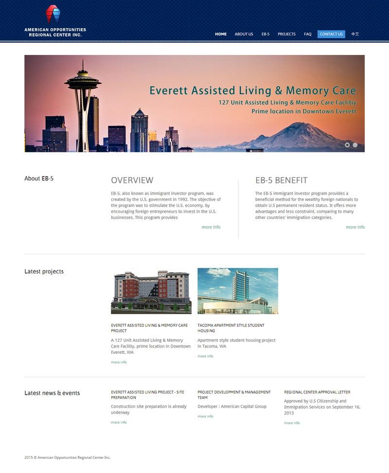 Local Investment Company Website Development Service - AORC - 5U